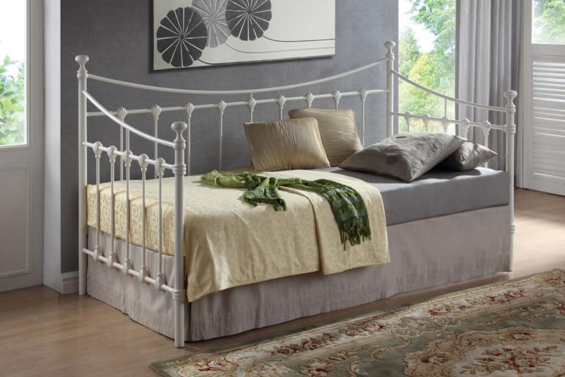Elizabeth Metal Day Bed in Black or Ivory by Time Living
